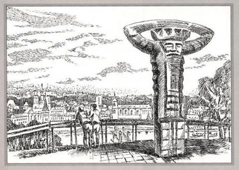 Kauno miesto Aleksoto seniūnijos istorinių ir kultūros paveldo statinių piešiniai