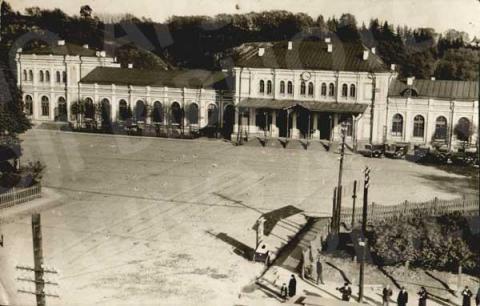 Pirmoji Kauno geležinkelio stotis (M. K. Čiurlionio g.)