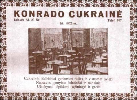 """""""Konrado"""" cukrainė – """"Tulpės"""" kavinė – drabužių parduotuvė """"Mango"""" (Laisvės al. 45)"""