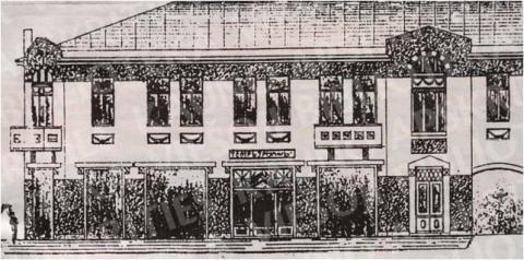 """Švarcų namas su """"Triumf"""" kinu – prekybos centras """"Merkurijus"""" (Laisvės al. 60)"""