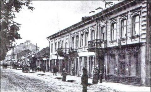 """Polzunovų-Rumšiškių namas – Teatro vaistinė – """"Utenos trikotažo"""" parduotuvė (Laisvės al. 89)"""