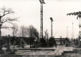 Kapitaliai perstatytas Sporto kombinato stadionas ir jo aplinka. 1980 m.