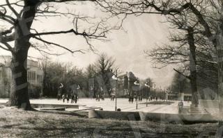 Sporto gatvė prie Kūno kultūros instituto. 1981 m.