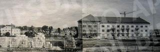 Statomas Veterinarijos akademijos studentų bendrabutis (dab. Sąjungos a. 5). Apie 1956 m.