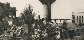 Kauno centrinės elektrinės griuvėsiai. 1944 m.