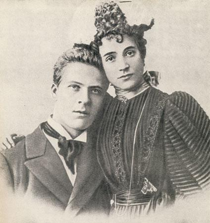 Fiodoras Šaliapinas ir jo žmona I. Tornagi. 1897 m.