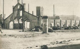 Šančių halės griuvėsiai (A. Juozapavičiaus ir Siūlų g. kampas). Apie 1944 m.