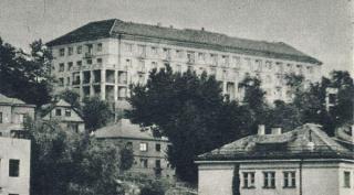 Kauno medicinos instituto studentų bendrabutis (dab. Dainavos g. 3). Apie 1960 m.