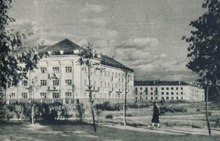 Veterinarijos akademijos studentų bendrabutis (dab. Sąjungos a. 5). Apie 1960 m.