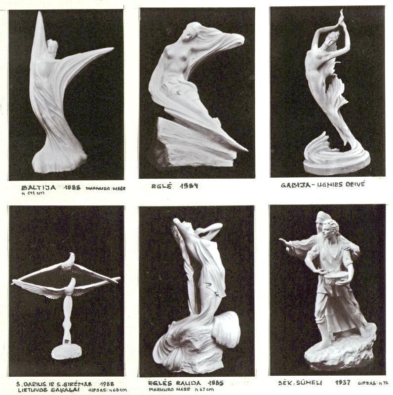 N. Luščinaitės-Krinickienės skulptūros