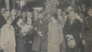 K. Balmonto ir jo žmonos sutikimas Kybartuose