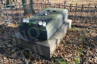 Pirmojo Kauno tvirtovės komendanto Oskaro Klemo kapas. 2011 m.