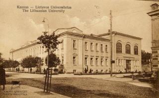 Lietuvos universiteto pirmieji rūmai. XX a. 3 deš. pr.