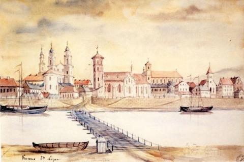 Kaunas piešiniuose, graviūrose ir litografijose