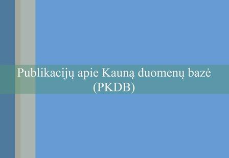 Publikacijų apie Kauną duomenų bazė (PKDB)