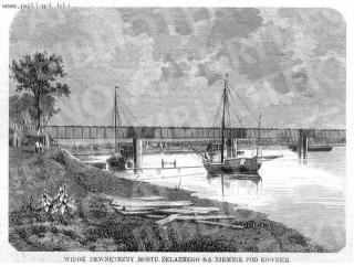 Geležinkelio tilto per Nemuną vaizdas