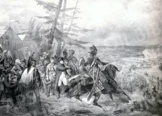 Napoleonas keliasi per Nemuną.