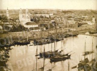 Kauno vaizdas iš Linksmakalnio. 1861 m.