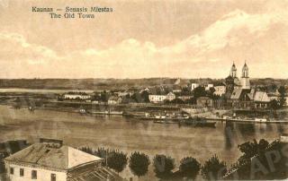 Tolumoje kairėje Nemuno ir Neries santaka. 1925 m.