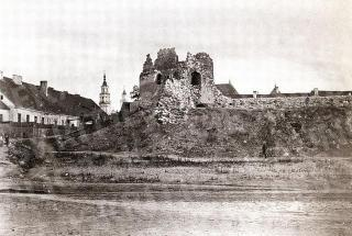 Kauno pilies griuvėsiai. XIX a. pab.