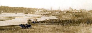 Nemuno ir senamiesčio vaizdas. 1861 m.
