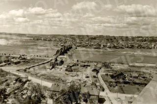 Neries ir Vilijampolės panorama. Apie 1950 m.
