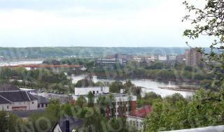 Neries ir tilto vaizdas nuo Žaliakalnio šiandien. 2010 m.