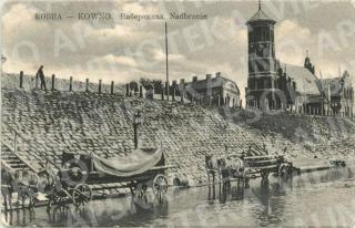 Tašytų akmenų krantinė šalia gotikinės Vytauto Didžiojo bažnyčios. XIX a. pab.