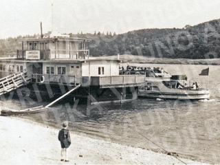 Lampėdžių keleivinė prieplauka. Apie 1954 m.