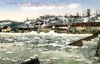 Nemuno potvynis. Vaizdas nuo tilto į Aleksotą. 1926–1927 m.