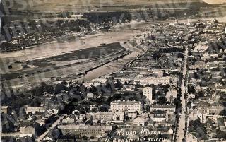 Pietinės naujamiesčio dalies ir Nemuno vaizdas. 1927 m.