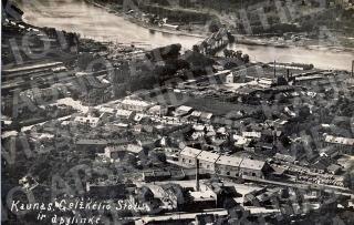 Karmelitų bažnyčios apylinkės ir geležinkelio tiltas. 1927 m.