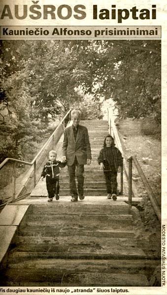 Aušros laiptai. 2000 m.