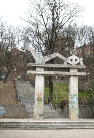 """""""Juozaičio"""" (dar kitaip – """"Šilelio"""") laiptai. 2012 m."""